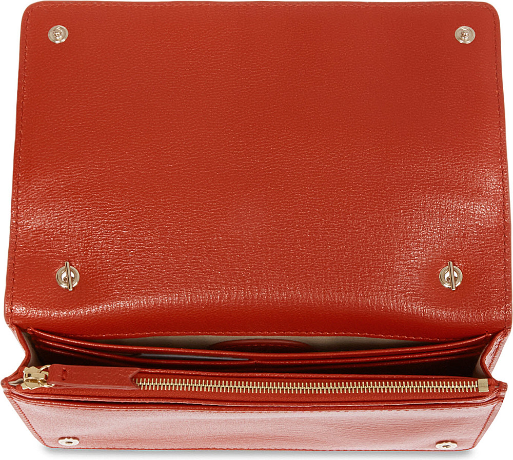 043ff9411a01 ... cheapest mulberry bow glossy goat leather clutch wallet in red lyst  d63b8 b4e97