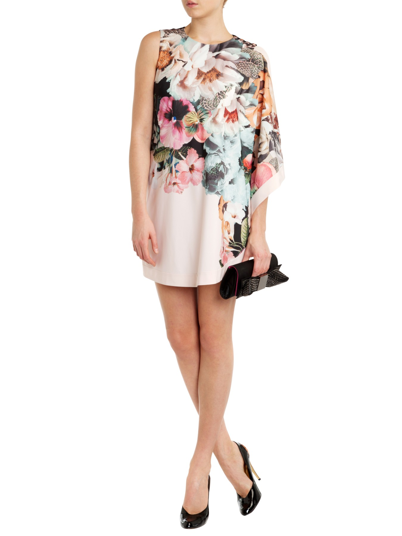 891c533f1 Ted Baker Tangled Floral Printed Tunic Dress in White - Lyst