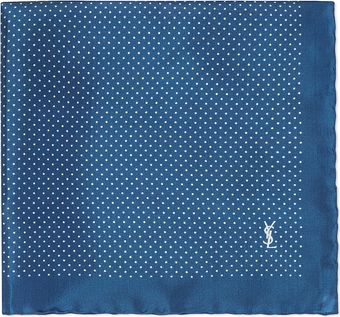 Yves Saint Laurent Polka Dot Pocket Square - Lyst