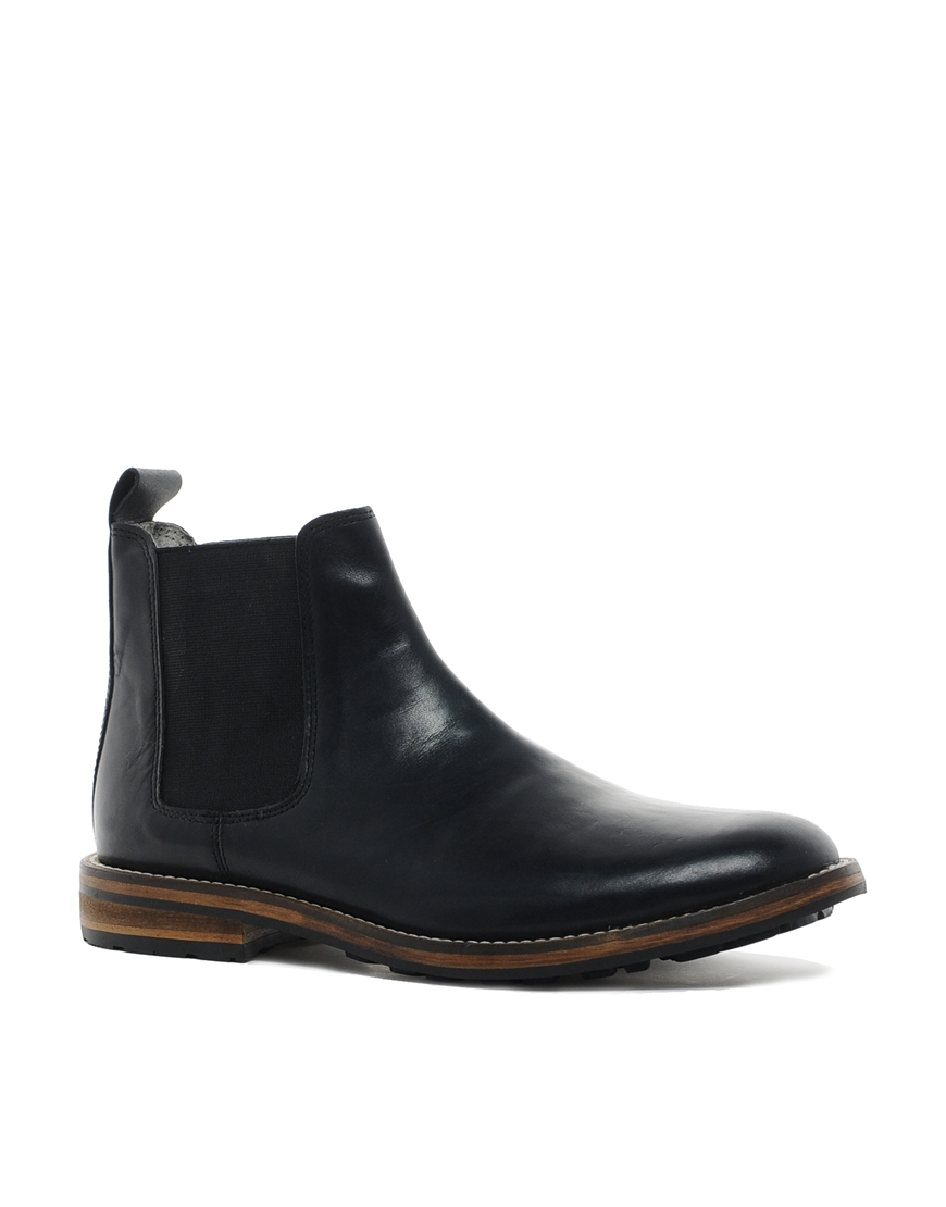 Lyst Asos Chelsea Boots With Commando Sole In Black For Men