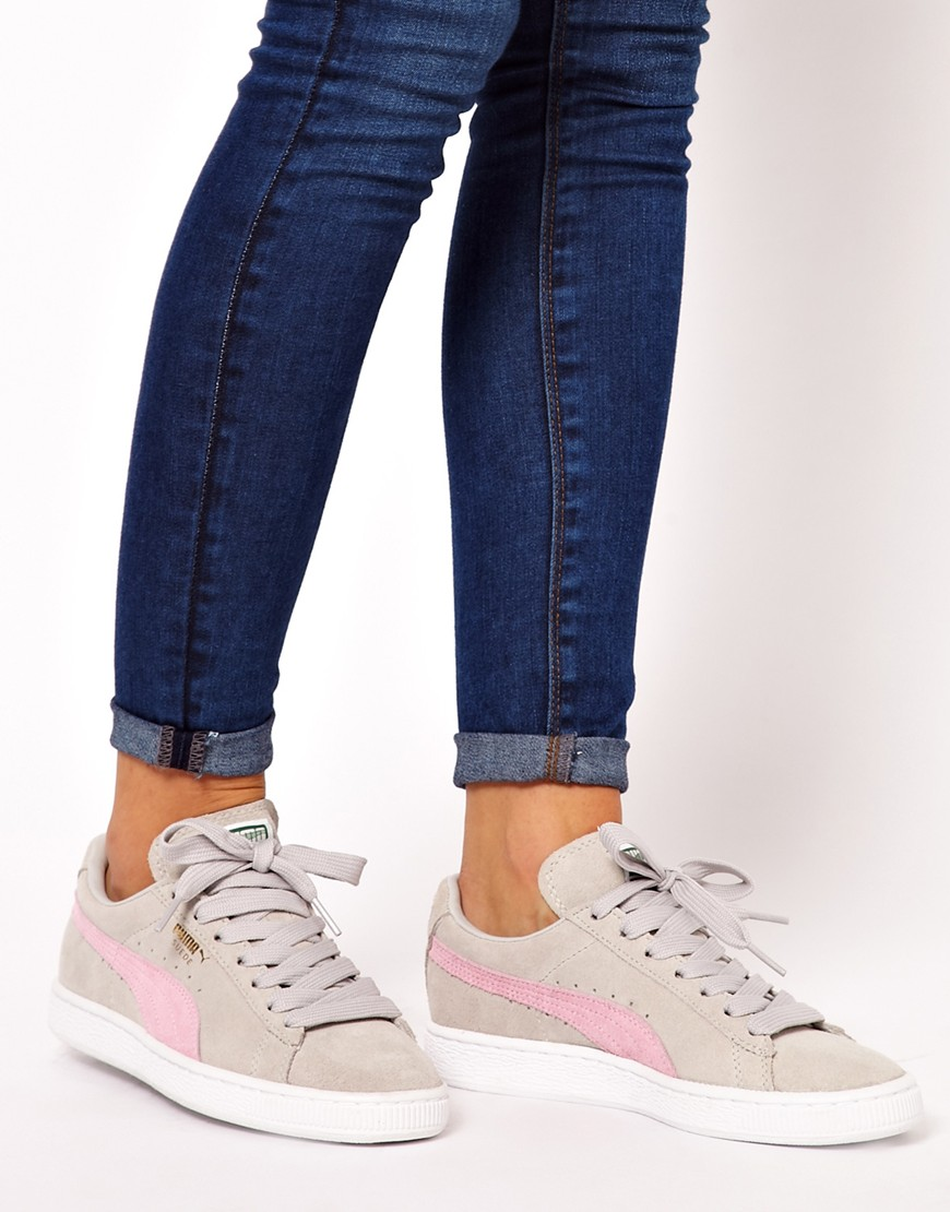 be24d4b3a69b Classic Gray Lyst Puma Sneakers In Suede Asos qBxOwfp