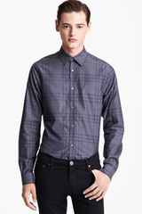 Burberry Treyforth Tailor Fit Check Woven Shirt - Lyst