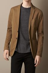 Burberry Garmentdyed Patch Pocket Blazer - Lyst