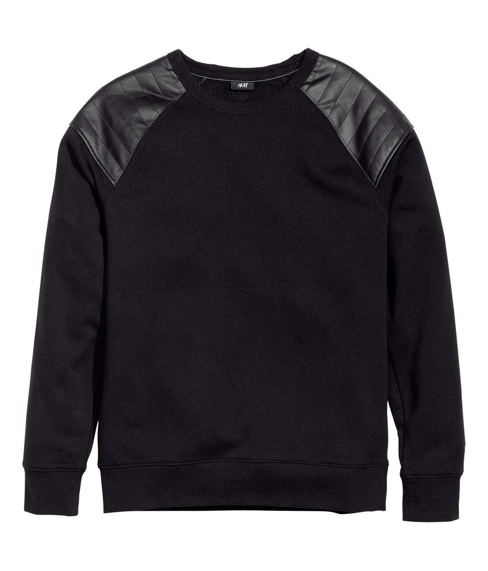 Lyst H Amp M Sweatshirt In Black For Men
