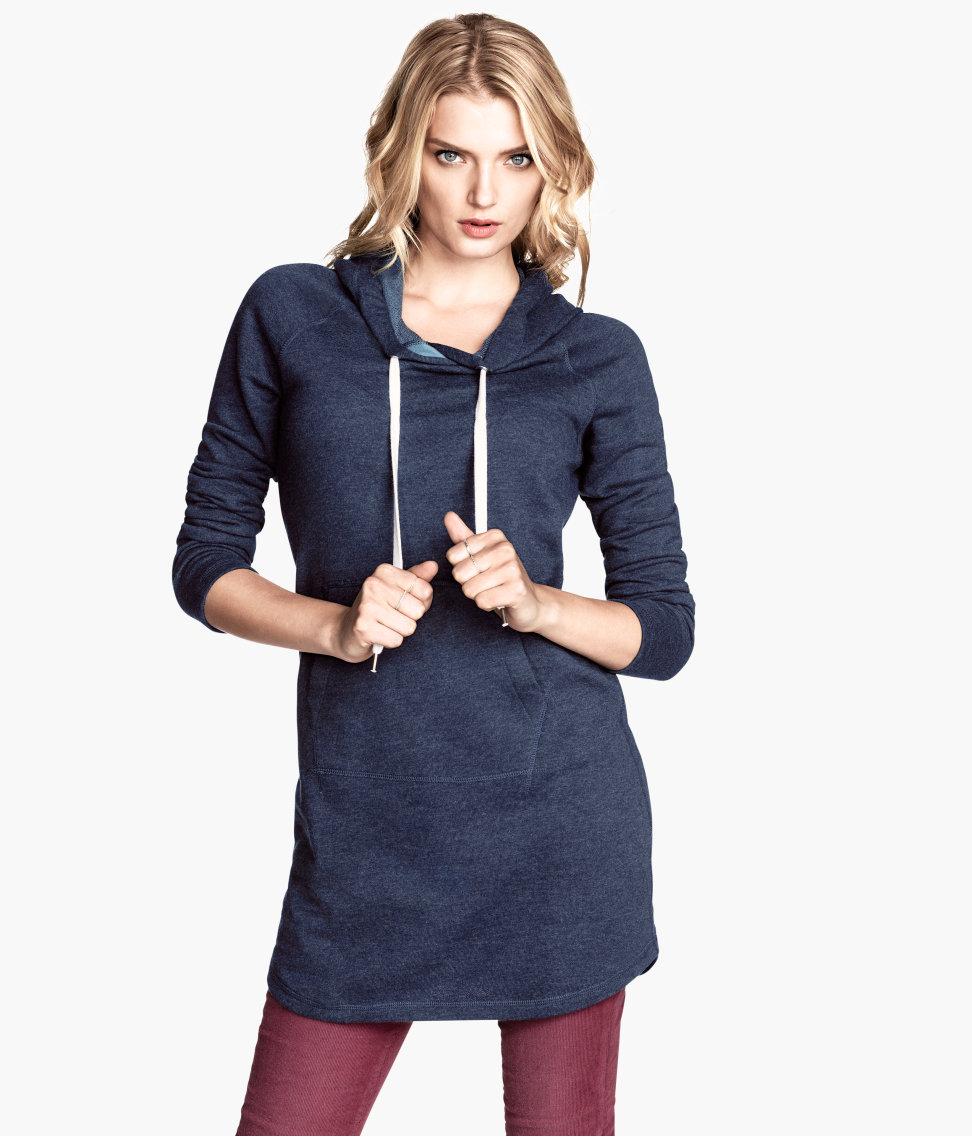 55d494a625 H M Sweatshirt Dress in Blue - Lyst