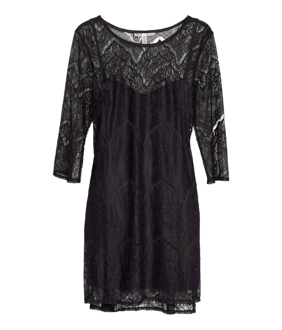 H&m Lace Dress Lyst