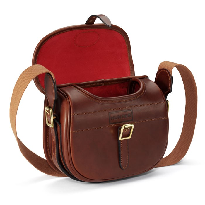 HUNTER Leather Cartridge Bag in Brown - Lyst