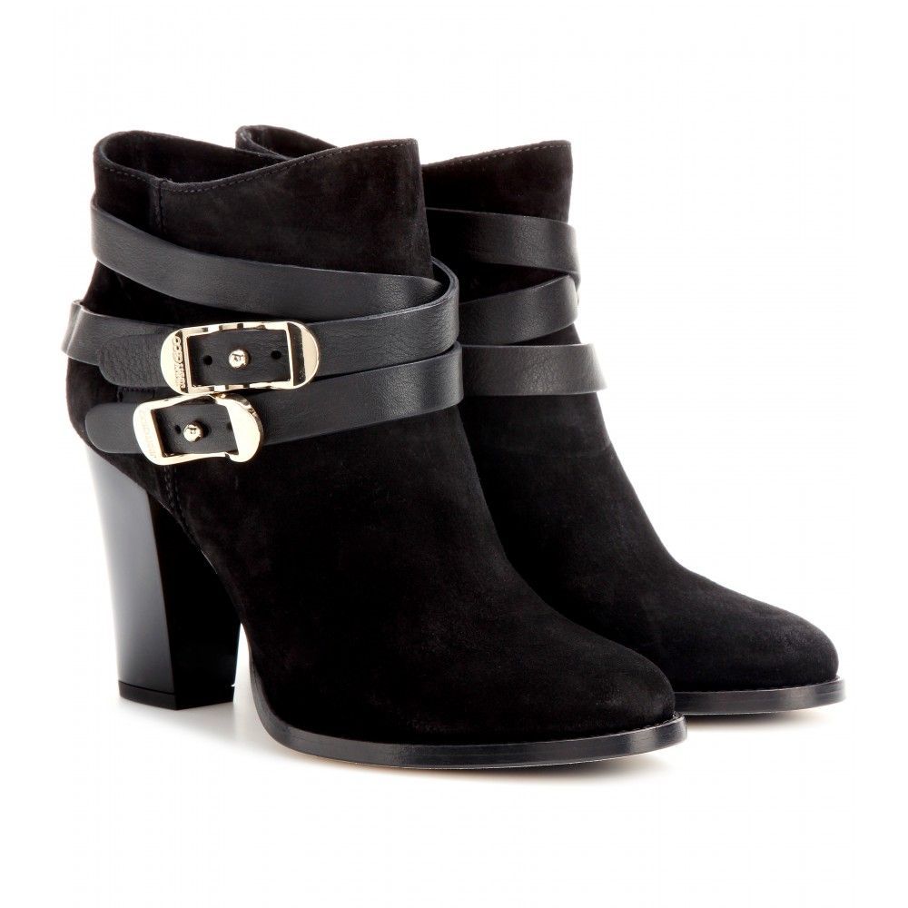 Lyst - Jimmy choo Melba Suede Ankle Boots in Black