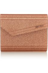 Jimmy Choo The Candy Glitter-finished Acrylic Clutch - Lyst