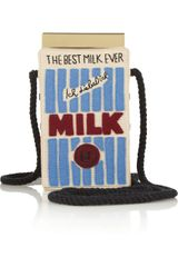 Olympia Le-Tan Milk Carton Embroidered Shoulder Bag - Lyst