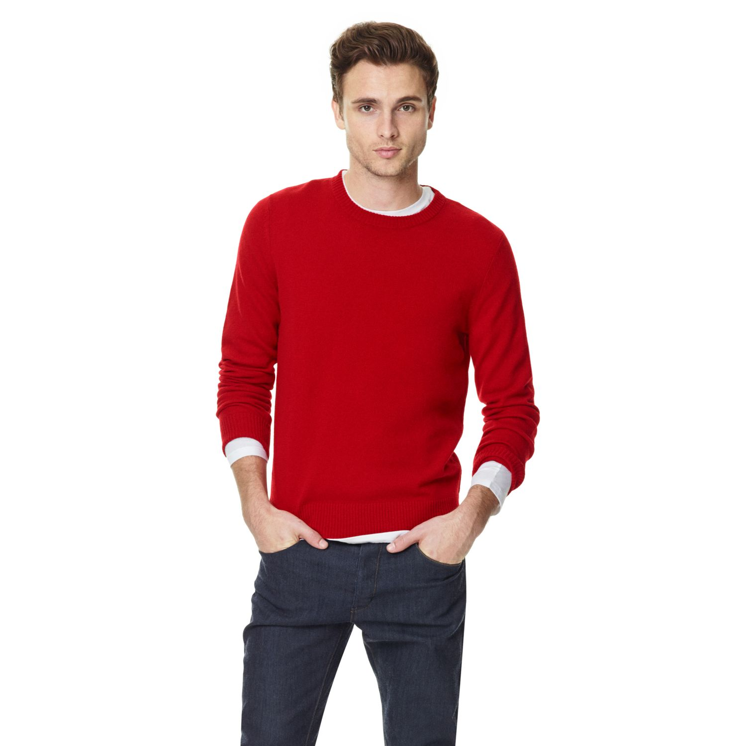Theory Riland T Red Sweater in Cashmere in Red for Men | Lyst