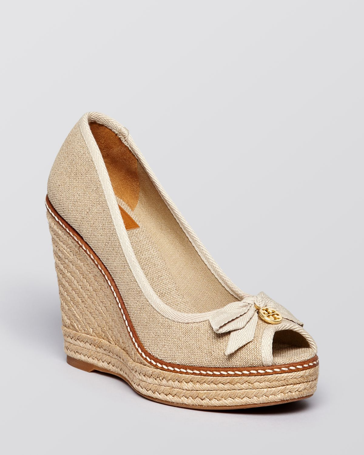 78e5ddfd10a4 Lyst - Tory Burch Platform Wedge Espadrille Pumps - Jackie in Natural