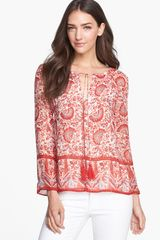 Tory Burch Danica Silk Top - Lyst