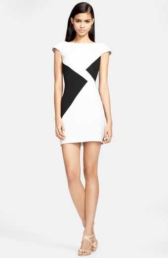 Versace Colorblock Dress - Lyst