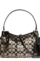 Coach Legacy Double Gusset Crossbody in Printed Signature Fabric - Lyst