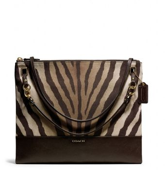 Coach Madison Convertible Hippie in Zebra Print Fabric - Lyst