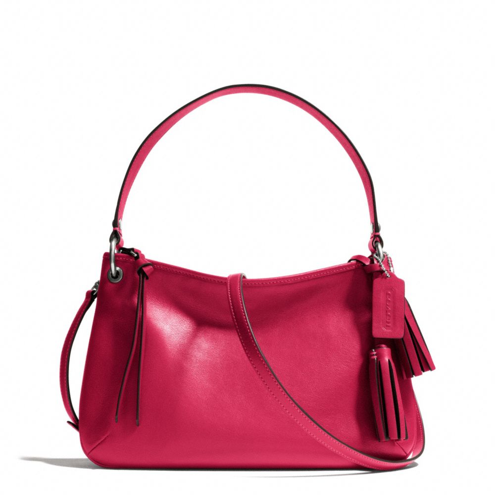 Lyst - COACH Legacy Double Gusset Crossbody in Leather in Pink bc2dc69e0377e