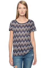 Ella Moss Quill Short Sleeve Top - Lyst