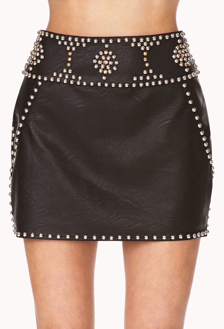 Silver Mini Skirt River Island