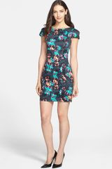 French Connection Print Stretch Cotton Sheath Dress - Lyst