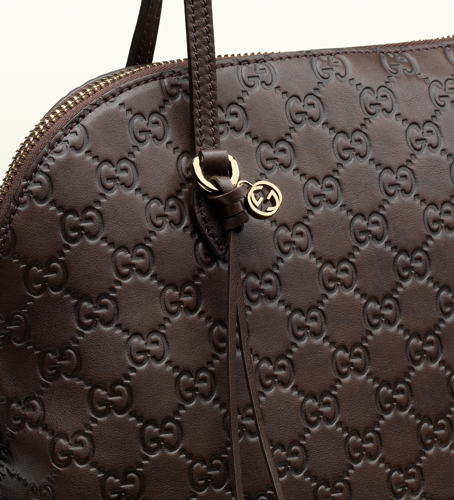 e62df57d0 Gucci Bree Ssima Leather Shoulder Bag in Brown - Lyst