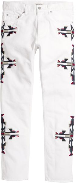 Isabel Marant Embroidered Jeans - Lyst