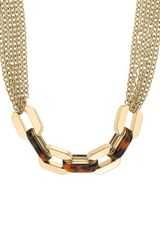Michael Kors Multichain Link Necklace Goldentortoise - Lyst