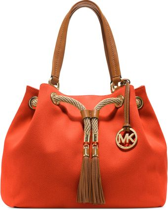 Michael Kors Marina Large Gathered Tote - Lyst