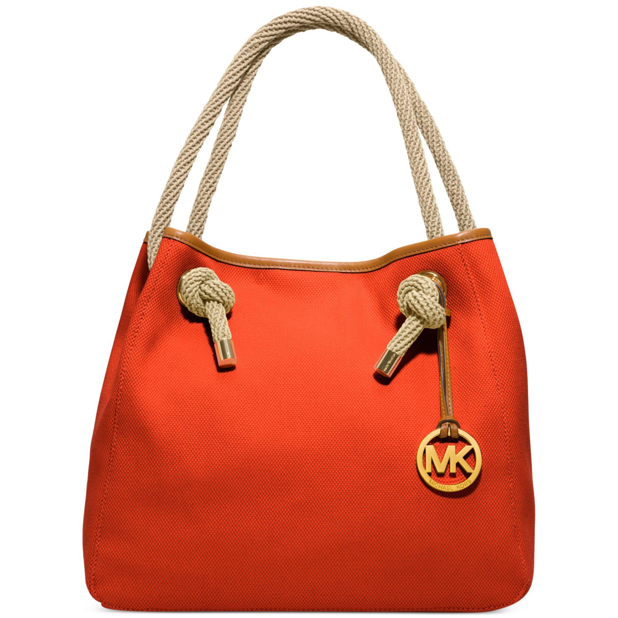 Bolsa Michael Kors Marina : Lyst michael kors marina large grab bag in orange