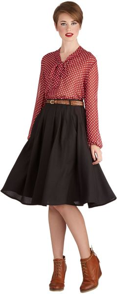 ModCloth Breathtaking Tiger Lilies Skirt in Black - Lyst