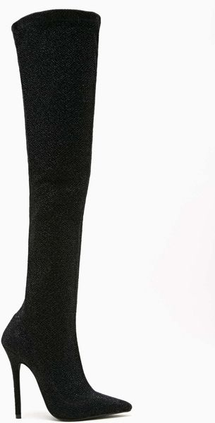 Nasty Gal Jeffrey Campbell Kinki Thigh High Boot Black - Lyst