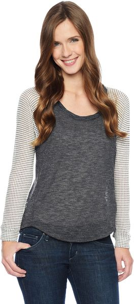 Splendid Azulon Raglan Top - Lyst