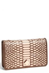 Ted Baker Whirret Leather Clutch - Lyst