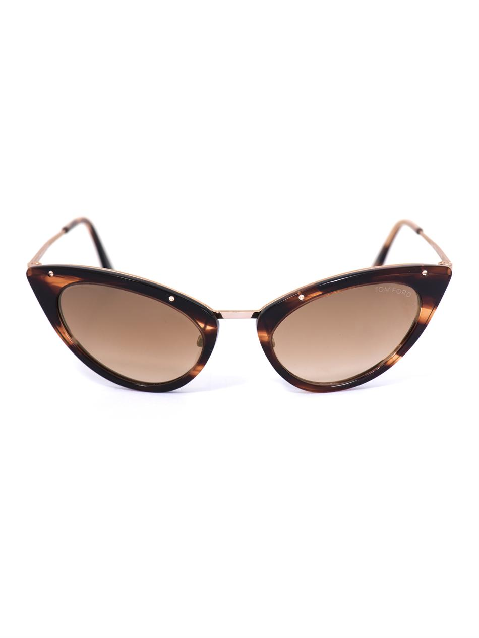 tom ford grace cat eye sunglasses in animal gold lyst. Cars Review. Best American Auto & Cars Review