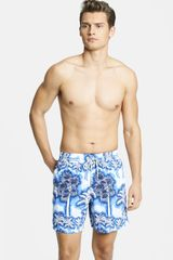 Vilebrequin Moorea Palm Print Swim Trunks - Lyst