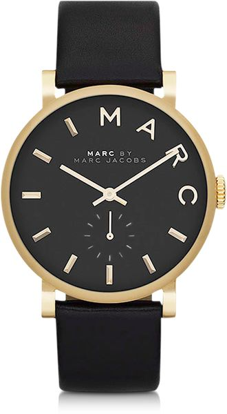 Marc By Marc Jacobs Baker Round Enamel Case Stainless Steel Womens Watch - Lyst