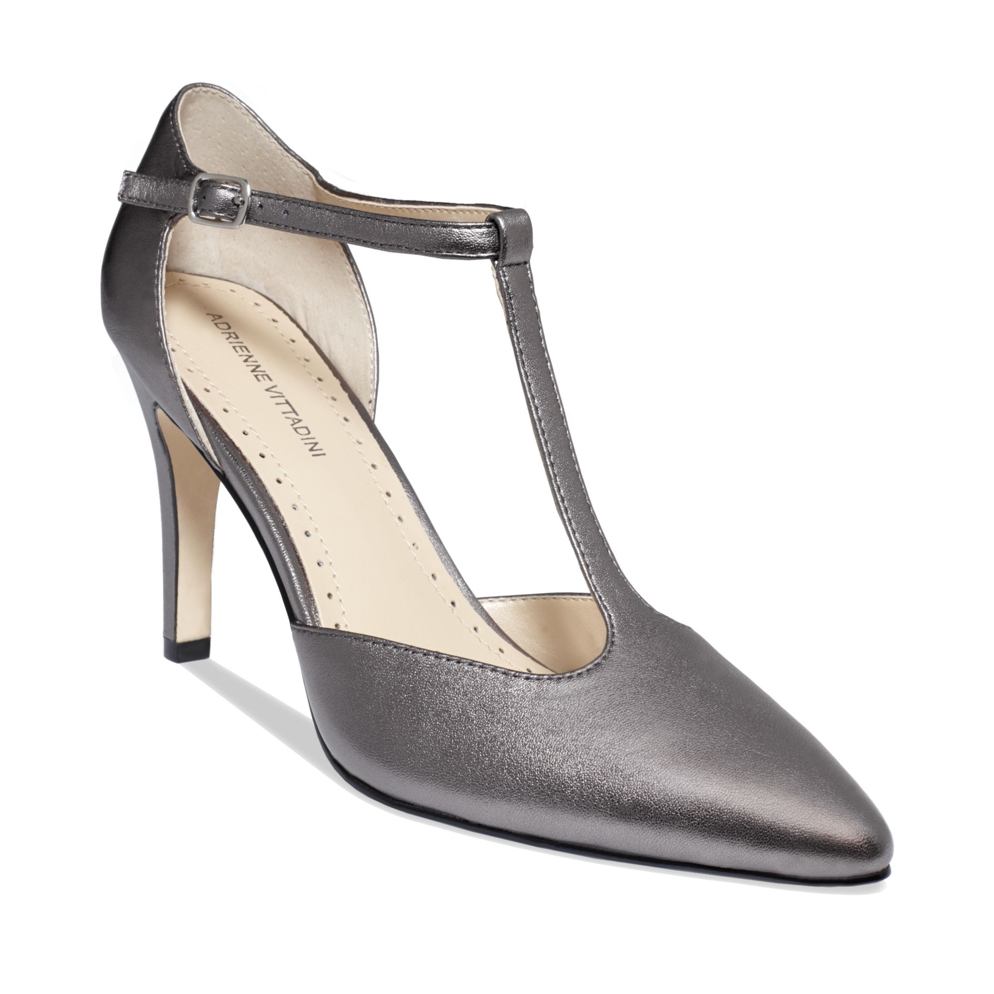 Pewter Color Heel Shoes
