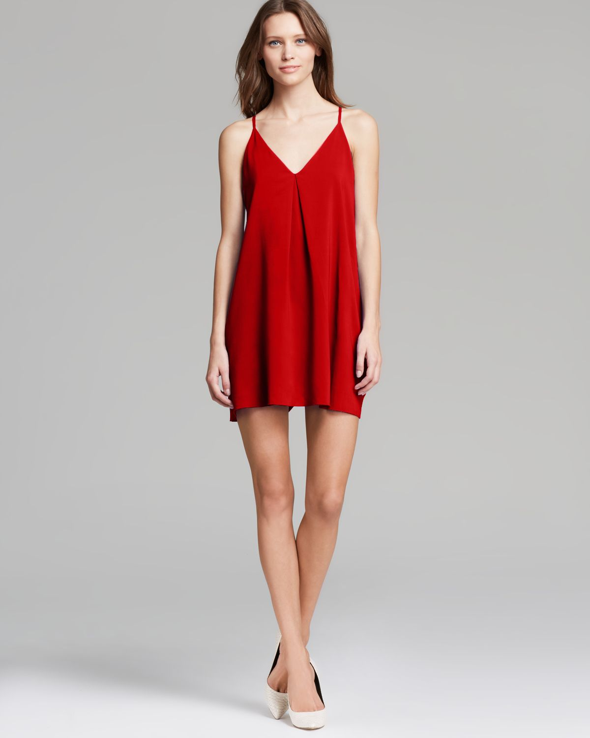 Alice   olivia Alice Olivia Tank Dress Fierra Silk in Red | Lyst