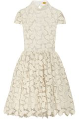 Alice + Olivia Jayna Metallic Cotton blend Lace Dress - Lyst