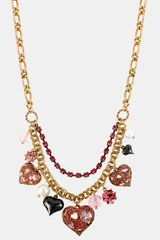 Betsey Johnson Iconic Pinkalicious Frontal Necklace - Lyst