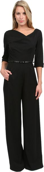 Black Halo Jackie 3/4 Jumpsuit - Lyst