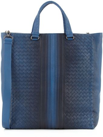Bottega Veneta Woven Tote with Ombre Detail Blue - Lyst
