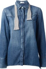 Brunello Cucinelli Denim Shirt - Lyst