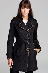 Burberry London Trench Animal Printed Leather Trim - Lyst