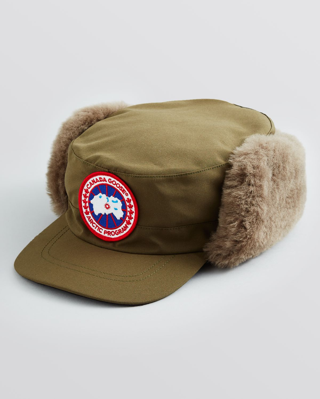bc3bc37ce7b Canada Goose Merino Wool Shearling Pilot Hat