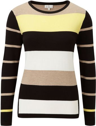 Cc Petite Stripe Placement Jumper - Lyst