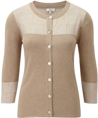 Cc Petite Basketweave Colourblock Cardigan - Lyst
