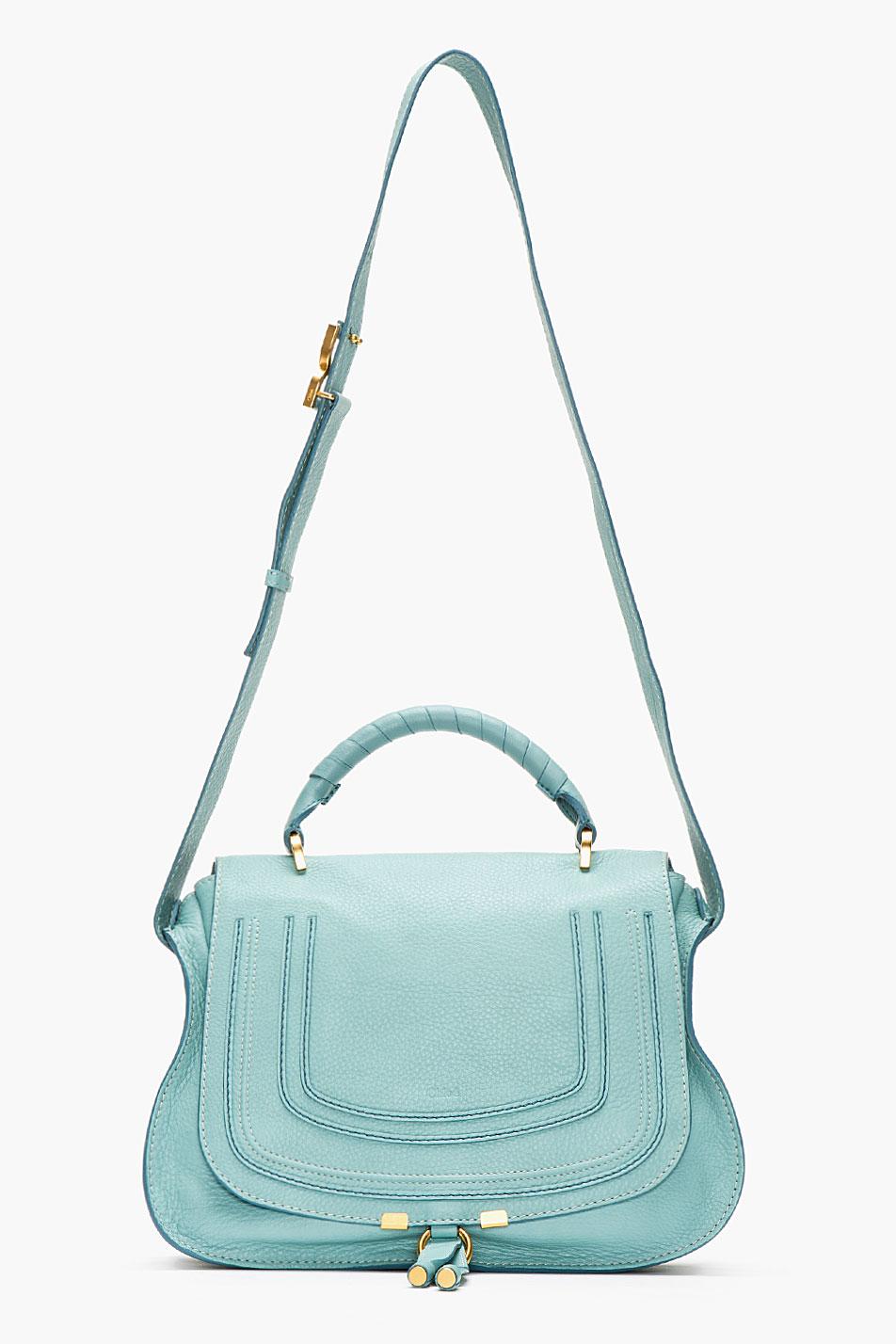chloe green handbag marcie