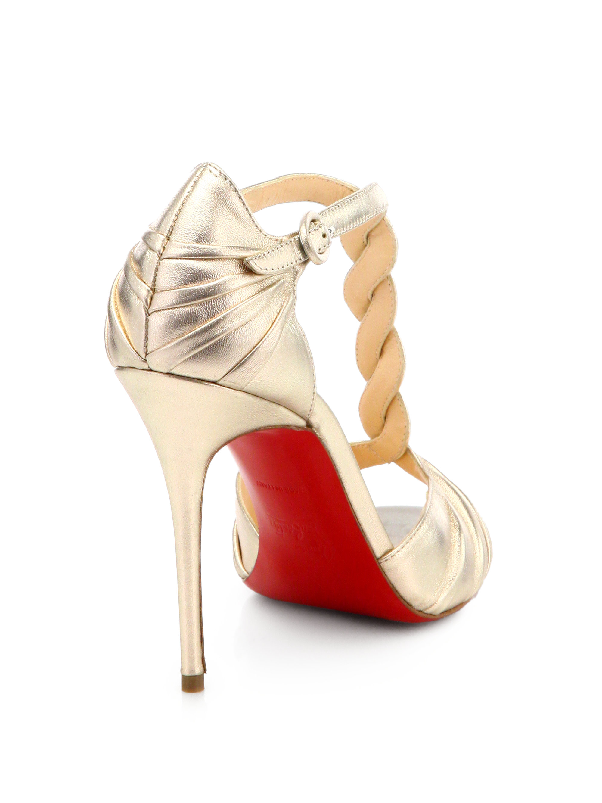 replica christian louboutin shoes - christian louboutin milla 100 metallic leather sandals, replica ...