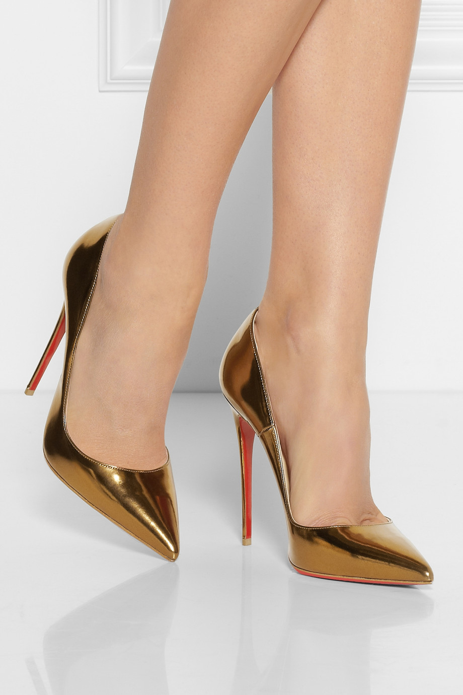 Lyst Christian Louboutin So Kate 120 Patentleather Pumps